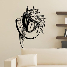 Head Of Horse Wall Stickers Home Decor Adhesive Removable High Quality Vinyl Decals Animal Kids Room Decoration