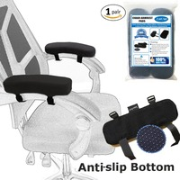 Chair Armrest Pads And Memory Foam Elbow Support Universal Fit For Home Or Office Chair Good