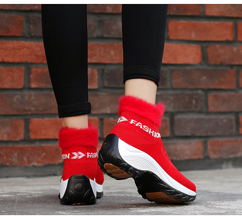 STS BRAND 2019 New Winter Ankle Boots Women Snow Boots Warm Plush Platform Sneakers Breathable Mesh Sneakers Travel Casual Shoes (17)