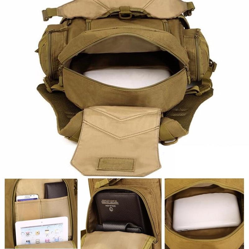 Al aire libre 2 Set mochilas tácticas Unidades militares bolsas de Camping bolso de Montañismo mochila de senderismo para hombre Mochila De Viaje + Paquete de cintura - 5