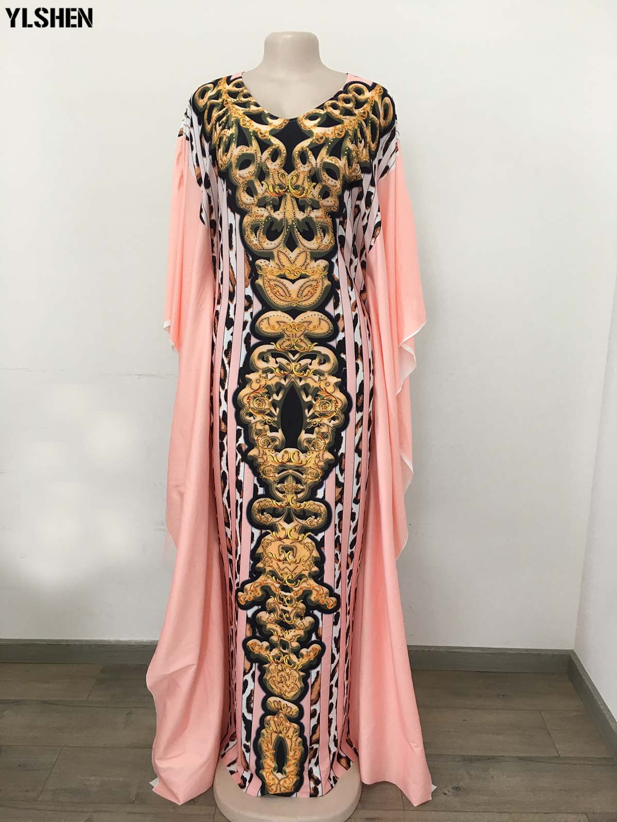 Dashiki African Dresses For Women Leopard Print African Clothes Plus Size Bazin Riche Slim Africa Dress Robe Vetement Femme 2019