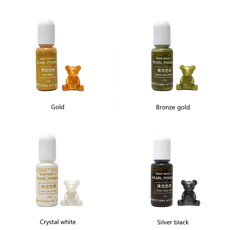 10colors/Set Asuit Pearl Resin Dye Epoxy Resin Pigment UV Resin Coloring Dye Colorant Resin Pigment DIY Handmade Crafts Art Sets