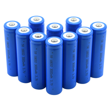 1/2/4/6/8/10 2019 New Wholesale 3.7V Blue 3000mAh 18650 Rechargeable Batteries For Dvd Headlamp Li-ion Lithium Battery Replace