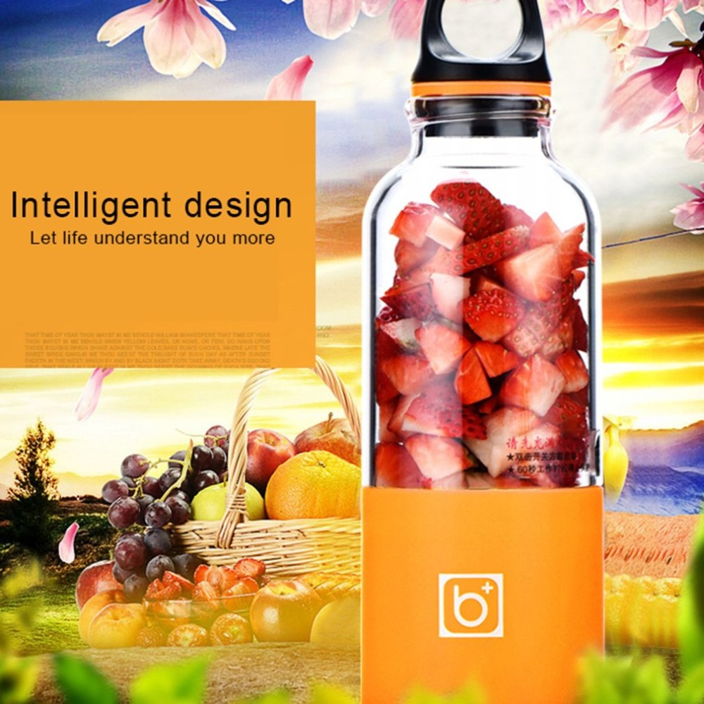 Electric Juicer Cup - 500ML USB Rechargeable, Portable Blender & Mixer 1