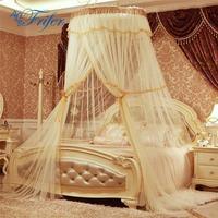 Heightened Round Hoop Princess Pastoral Lace Bed Canopy Mosquito Net Fit Crib Ne