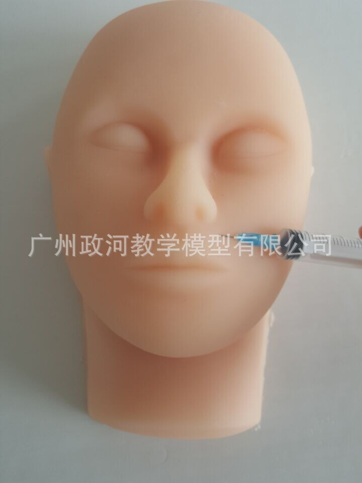 Tête humaine en Silicone Micro-façonnage tête modèle Simulation Injection peau Suture visage modèle