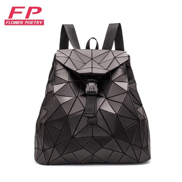 6dad118a7a0e4 2019 nowy geometria torba szkolna plecak dla kobiet torby moda plecaki dla  nastolatek dziewczyny składane szkoła