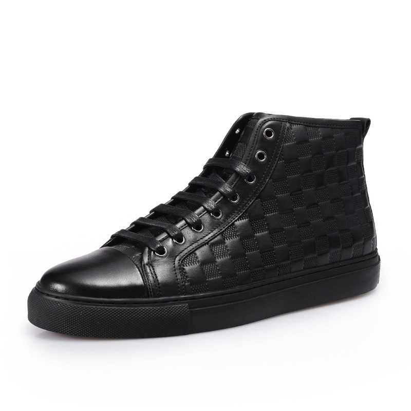 Men Casual Shoes Genuine Leather Male Luxury Trainers Adult Ankle Falt Black Boots Sping Shoes finn flare chocolate