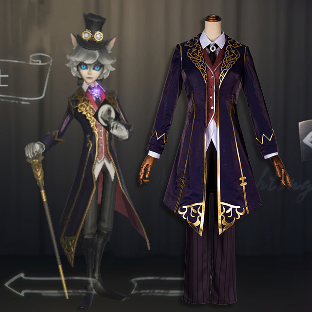 US $70 57 7% OFF|Anime! Identity V Joseph Gentlemen under the moon  Cameraman Skin Gothic Uniform Cosplay Costume Stage Performance Suit Free  Ship-in