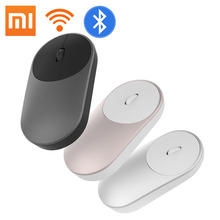 100% Originele Xiaomi Mouse Draagbare Optische Draadloze Bluetooth Muis 4.0 Rf 2.4Ghz Dual Mode Sluit Voor Laptop Pc