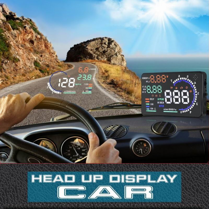 Liandlee Car Head Up Display HUD For Toyota Camry Avensis 2010 2018 Safe Driving Screen OBD Speedometer Projector Windshield in Head up Display from Automobiles Motorcycles