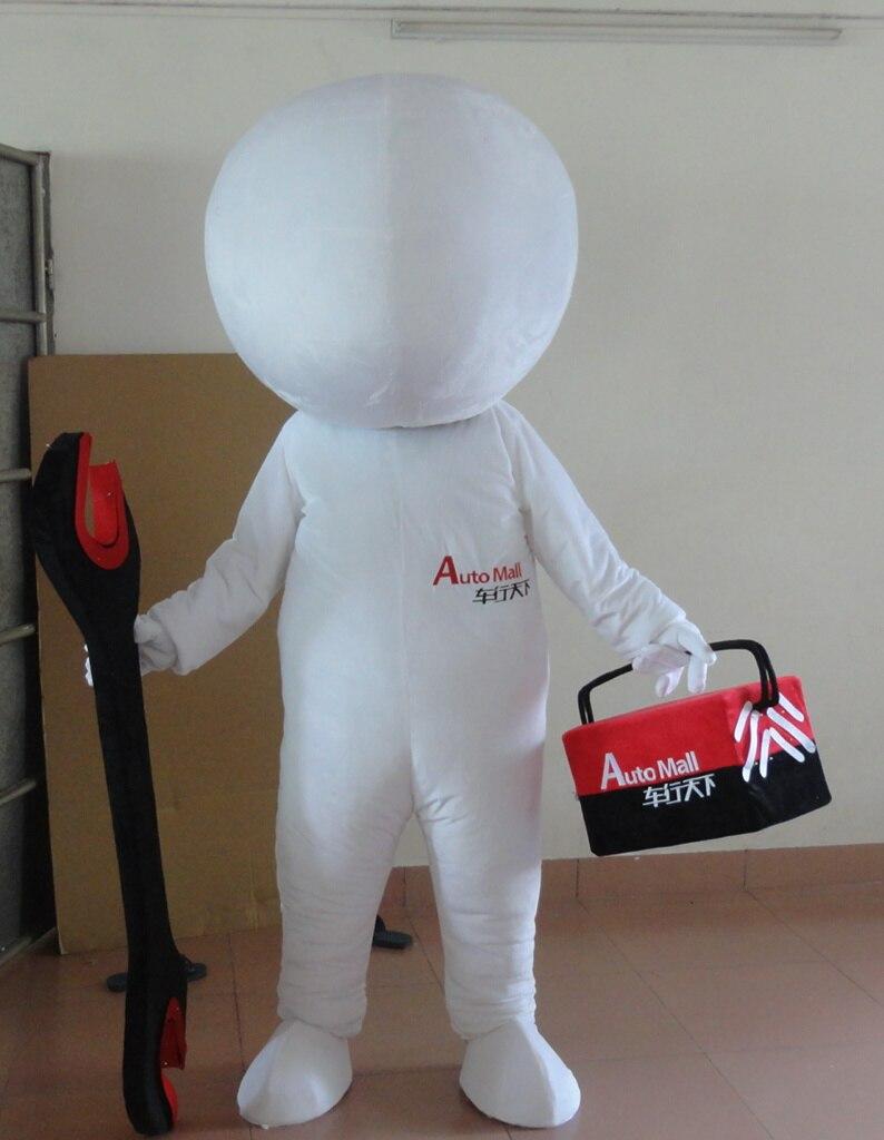 Dernière haute qualité offre spéciale adulte dessin animé belle poupée blanche mascotte costume fantaisie robe costume de fête vacances vêtements spéciaux