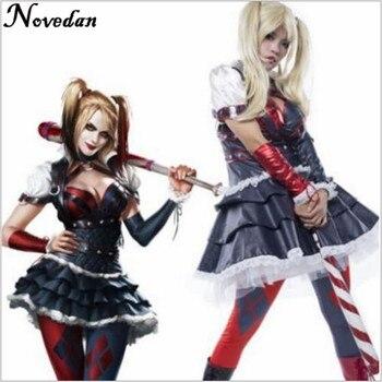 Batman Arkham Knight Origins City Harley Quinn Arkham Asylum Costume Adult Cosplay Carnaval Halloween Costume For Women фото