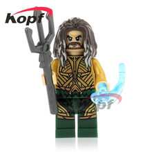 Single Sale Super Heroes Aquaman Power Girl Katana Reverse-Flash Booster Gold Building Blocks Bricks Children Gift Toys XH 743(China)