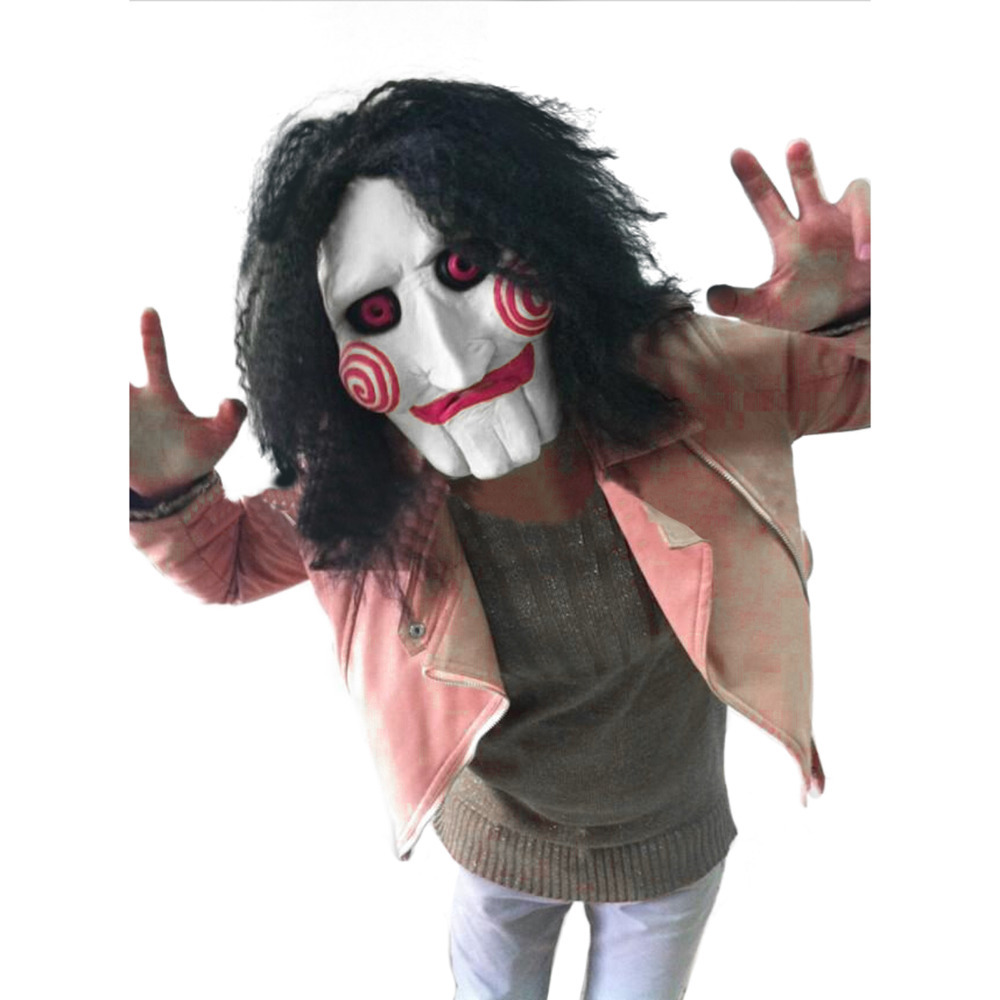 Aliexpress.com : Buy Latex Creepy Full Mask Scary Prop Movie Chain ...
