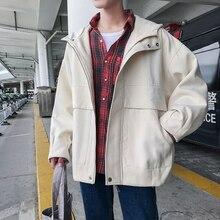 11e0922b9 2018 Men's Short Style Fashion Casual Loose Woolen Coat Hooded Windbreaker  Long Sleeves Black/white · 2 Colors Available