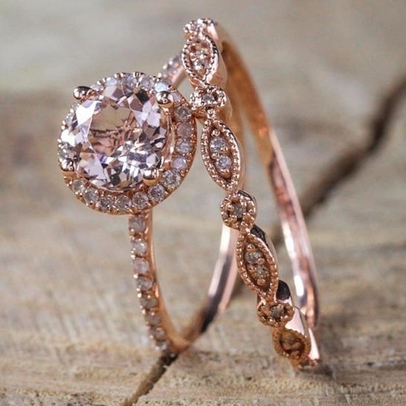 Exquisite 14k Gold Emerald Diamond Ring Anniversary Gemstone Rings Size 6-10 New