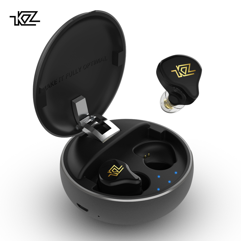 2019 KZ T1 TWS sans fil contrôle tactile 5.0 Bluetooth écouteurs hybride HIFI basse écouteurs Sport suppression du bruit HD casque