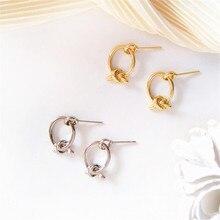 Simple metal texture earring geometry retro fashion geometric earrings aesthetic fashionable female wholesale