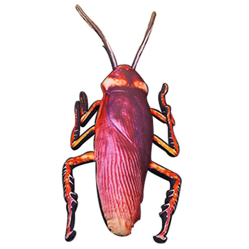 Creative simulation big cockroach hold pillow doll plush toys whimsy back cushion car pillow a birthday present Decorative house