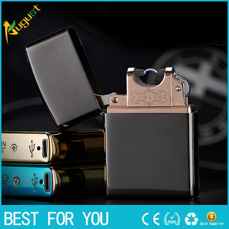 10pcs lot Usb Electronic Cigarette Smoking Windproof Lighters torch usb lighter butane lighter Arc lighter Lighter