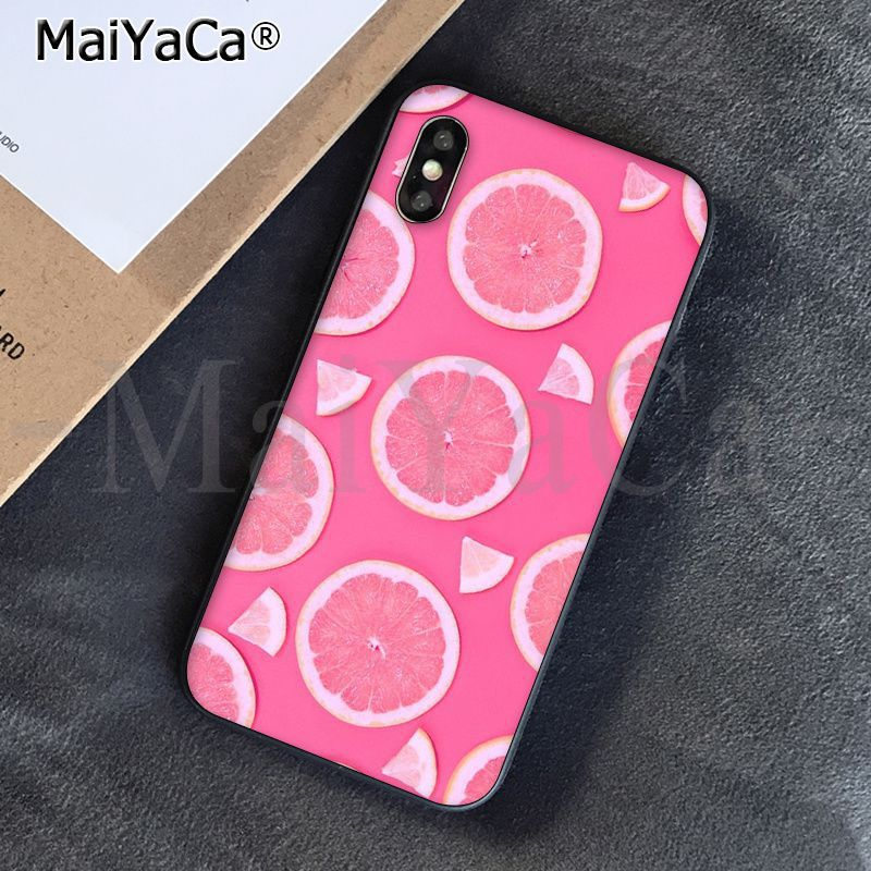 Half-wrapped Case Maiyaca Delicious Fruit Strawberry Novelty Fundas Phone Case Cover For Iphone X Xs Max 6 6s 7 7plus 8 8plus 5 5s Se Xr Phone Bags & Cases