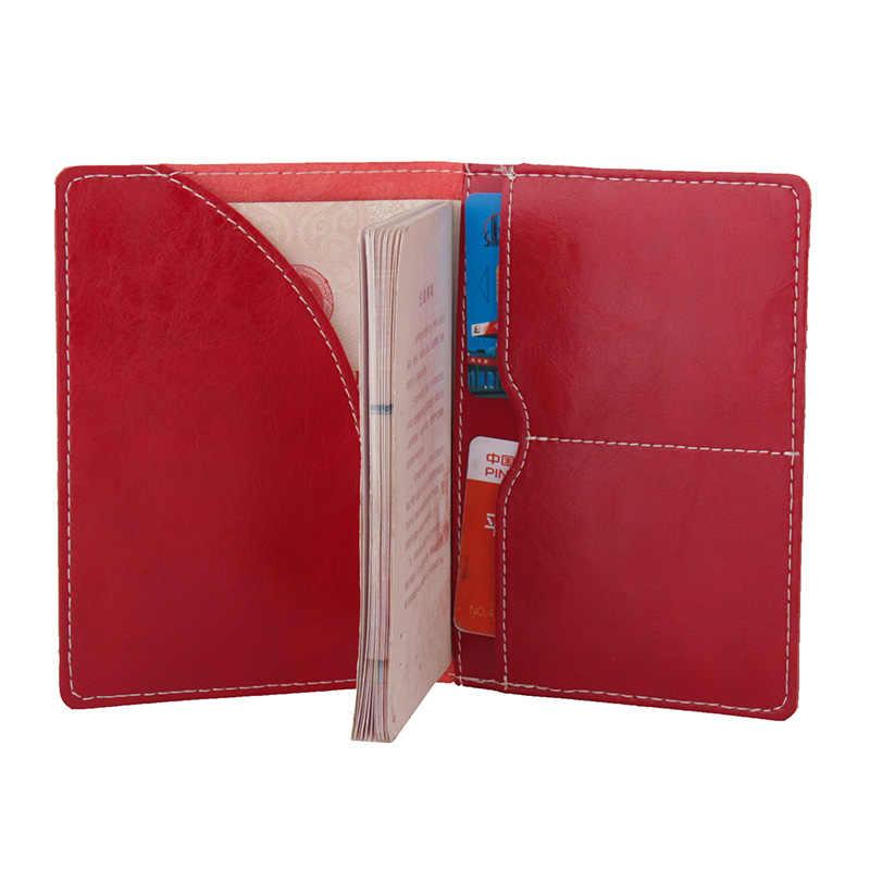 2019 масло воск натуральная кожаная Обложка на паспорт Женская Высококачественная Обложка для паспорта для мужчин роскошный держатель для проездных документов