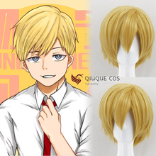 My Hero Academia Neito Monoma Short Linen Blonde Heat Resistant Hair Cosplay Costume Wig + Free Wig Cap