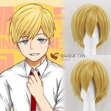 My Hero Academia perruque de Costume de Cosplay, cheveux courts en lin, Neito Monoma, blond, cheveux résistants à la chaleur