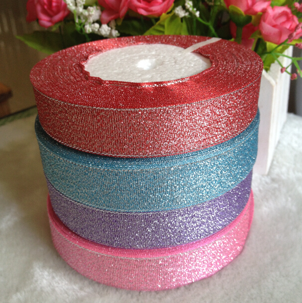 4 Rollen 20mm Breite Glitter Band Geschenk Verpackung Gurtel