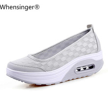 Summer Women Flat Platform Shoes Woman Casual Air Mesh Breathable Shoes Slip On Gray Fabric Shoes zapatos mujer 2018 summer women sport shoes casual air mesh breathable shoes flat platform shoes for women slip on sneakers zapatos mujer