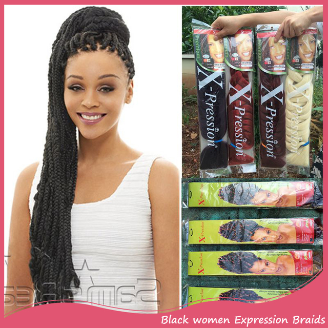 1pc Xpression Hair Extensions 82inch 205cm 165g Natural Synthetic