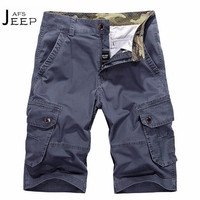 AFS JEEP Wholesale Price Father S Field Working Summer Shorts 100 Cotton Calf Length Male Cargo