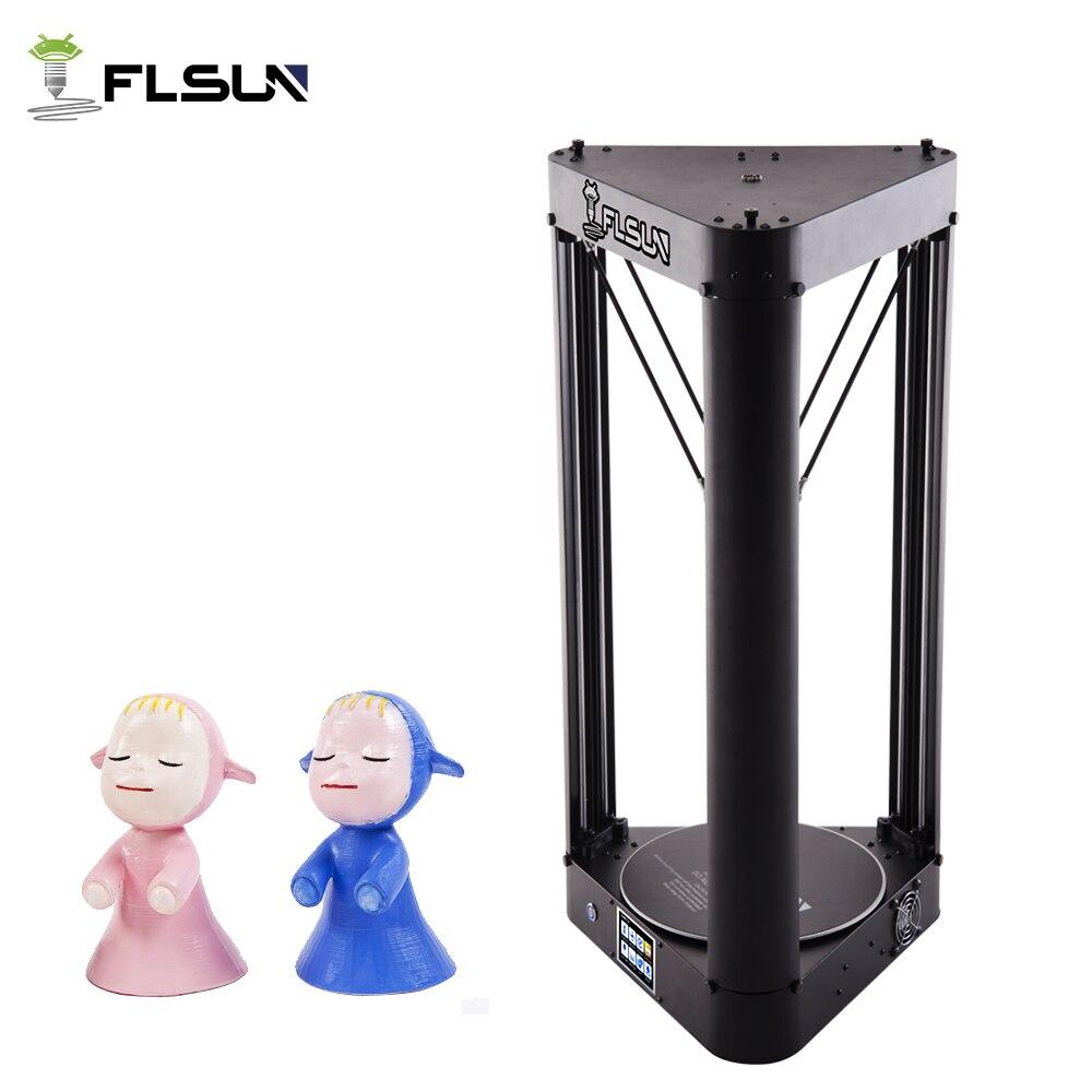 2019 NUOVO Flsun QQ-S 3D Stampante Pre-assemblaggio Touch Screen di Grandi Dimensioni Area di Stampa di Potere Riprendere 32 bit scheda madre Delta 3D Stampante