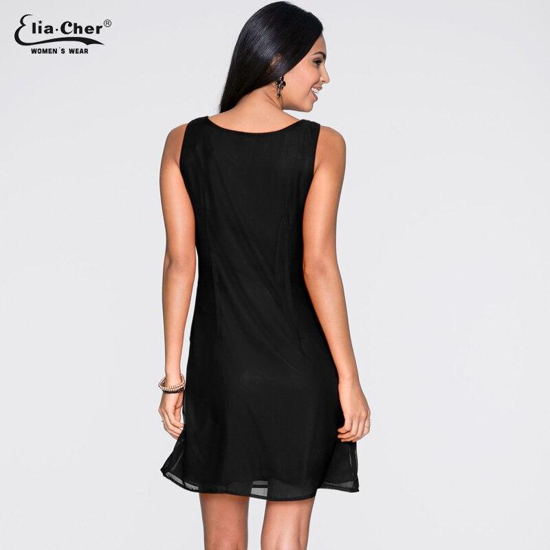 Chiffon Dress Women new Chic Elegant Summer Dress Eliacher Brand Plus Size Casual Women Clothing Black Dresses vestidos 8611 in Dresses from Women 39 s Clothing
