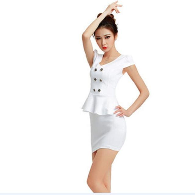 1d31ae6aea909 2016 Free Shipping Summer Style OL Slim Skirt Suit Sexy Carreer Uniform  Women Work Wears-in Skirt Suits from Women's Clothing & Accessories