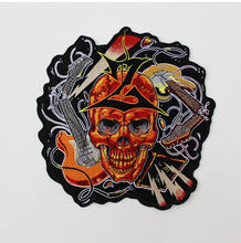 aede82dfe79d7 Rock Skull Huge Large Embroidery Patches Motorcycle Biker for Jacket Back MC  28cm   28cm