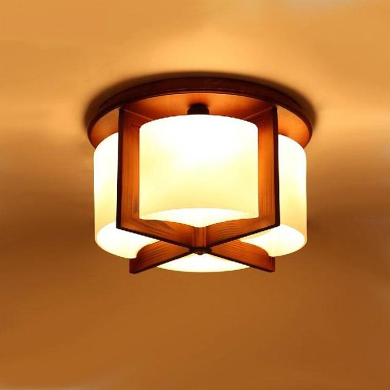 Chinese wood 4/6 heads pendant lamp bedroom romantic wood living room lam study light dining room pendant light ZA922619