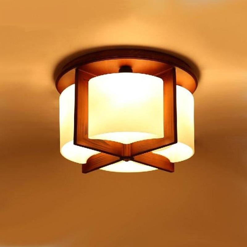 Chinese wood 4/6 heads pendant lamp bedroom romantic wood living room lam study light dining room pendant light ZA922619