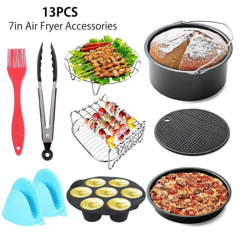13 шт. 7 дюймов MacBook Air приборы для фритюрницы Набор форм для выпечки тортов формы для выпечки кухонное приспособление из силикона гриль для пиццы Форма для яиц рукавицы для выпечки клип щетка