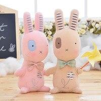 1 stück 21 cm Plüsch Niedlich Gestopft Brinquedos Baby Kinder Spielzeug für Mädchen Geburtstag Weihnachten Geschenk Bonecas Tier Kaninchen Mädchen