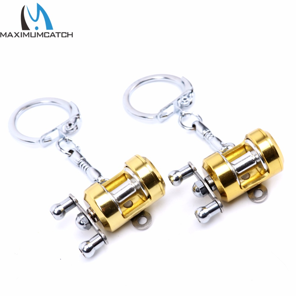 ALI shop ...  ... 32813592180 ... 3 ... Maximumcatch 2pc Fishing Reel Keychain Scroll Retractor Key Chain With Key Ring Fishing Tackles ...