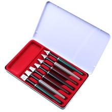 7 ชิ้น/กล่อง Caligraphy ปากกาขนานชุด 2 MM 3 MM 4 MM 5 MM 7 MM 9 MM 11 MM สำหรับน้ำพุเคล็ดลับ Gothic ตัวอักษรปากกาเครื่องเขียน