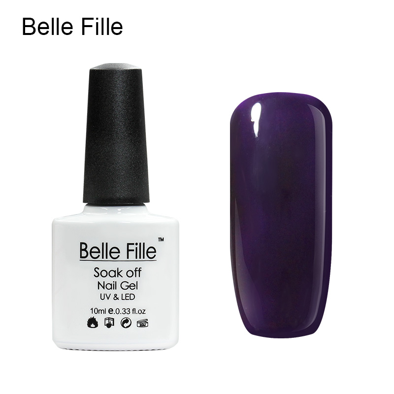 Belle Fille Gel Polish Paars Serie Kleur Coat UV LED Losweken - Nagel kunst - Foto 2
