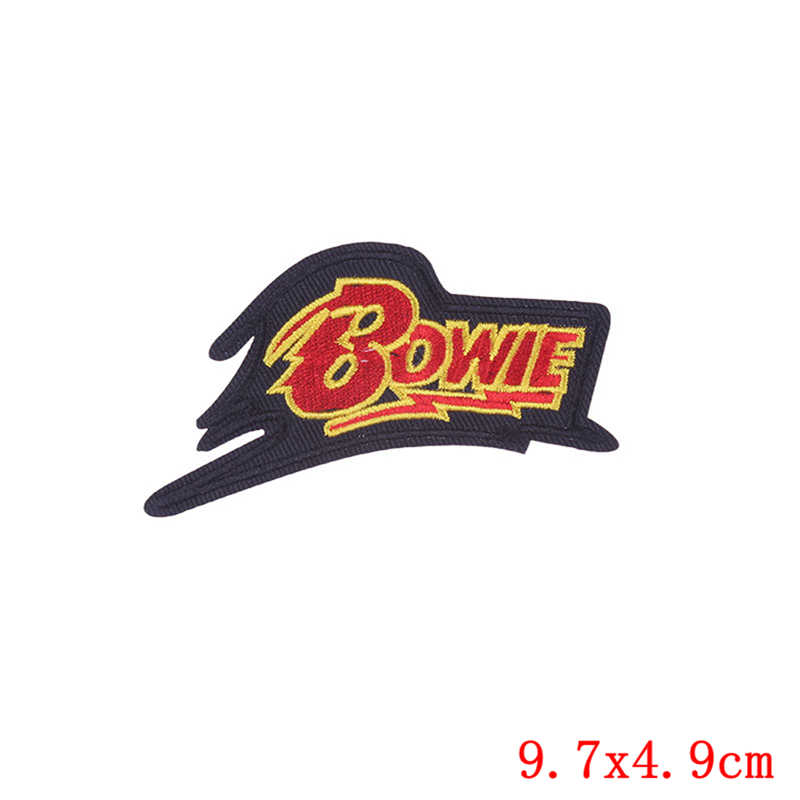 Prajna Bowie Surf Patch Kuda Ikan Palm Pohon Patch Iron Patch Kartun Bordir Patch untuk Pakaian Pelangi Dadu Lencana