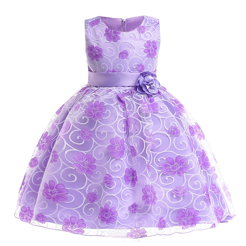 Girls floral Princess Party Dress Children Birthday Wedding clothes Summer Toddler baby Dresses 2 3 4 5 6 7 8 9 10 Kids Clothes