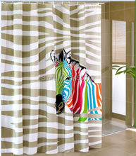 Polyester terylene multi-color zebra waterproof thicken shower curtains bathroom curtains,