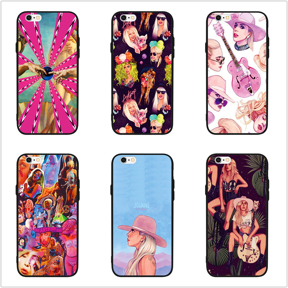 FATPERSON Popular Singer sexy Lady Gaga Phone Case Cover For Apple iPhone X 10 5 5S SE 6 6S 7 8 Plus 7Plus Black shell