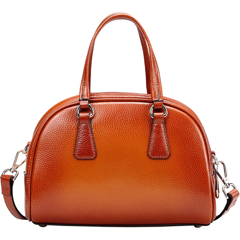 2017 Summer Brown Genuine Leather Women Handbag Vintage Cow Leather Shell Shoulder Bag High quality Woman Small Crossbody Bags2017 Summer Brown Genuine Leather Women Handbag Vintage Cow Leather Shell Shoulder Bag High quality Woman Small Crossbody Bags
