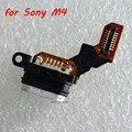 Para sony xperia m4 aqua doca conector de porta de carregamento micro usb substituição flex cable para sony xperia m4 aqua dual peças de reposição